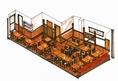 2階は60席有。開放感有。個室席は最大20名様