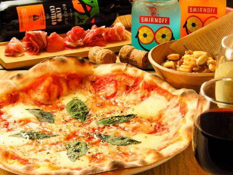 ピザ・パスタ・ドリアからメインを選べるランチセット♪デザート+スープ付き1100円