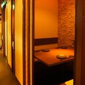 通路の扉を閉めれば2人だけの完全個室に…☆カップルやご夫婦、2人でじっくり語り合いたい方に最適です!