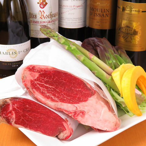 【和牛フィレコース】ドリンク3杯付 6品8700円★季節野菜と和牛フィレの鉄板焼き、デザート付き