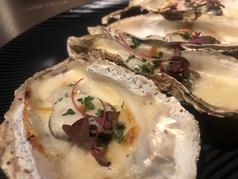 牡蠣の殻付きクリームグラタン