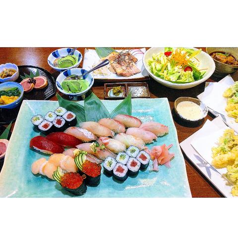 【お寿司を堪能!】120分飲み放題付き≪7品≫6000円コース