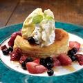 料理メニュー写真めちゃ幸せのパンケーキ