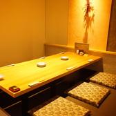 和の雰囲気のモダンな個室は接待などにおすすめ◎