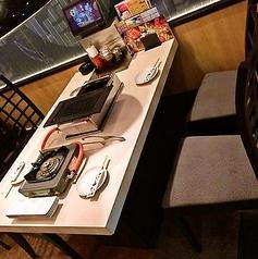 4名様のテーブルのお席です。少人数様でのご利用には是非◎