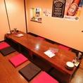 奥座敷席12名様まで半個室として利用可能!