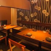 落ち着いた空間でお料理をお楽しみ下さい。