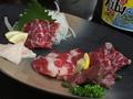料理メニュー写真馬刺し5種盛り