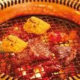 【炭火七輪使用!】肉・魚介・野菜など何を焼いても素材の持つ味を最大限に引き出します。※一部店舗は無縁ロースター&溶岩です ※詳細は各店にお問い合わせください