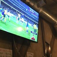 大型テレビでスポーツ観戦♪