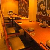 16名様までのテーブル半個室もあり。人数が集まったらこちらの個室で!