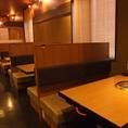 テーブル席、個室、座敷、堀ごたつと取り揃えています。