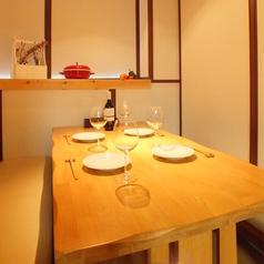 記念日のお祝いやバースデーパーティにもぴったりの半個室テーブル席★