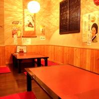 テーブル、お座敷12名迄、宴会貸切15名~ご予約受付中!