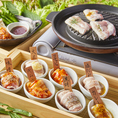 ★チーズトッピングOK★日本初上陸8色サムギョプサルはぜひ食べてほしい1品です♪韓国・東京で大人気のサムギョプサルを新しい楽しみ方で是非★