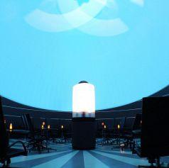 プラネタリウム内のお席全景