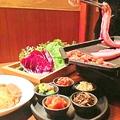 料理メニュー写真厚切りもち豚のサムギョプサル