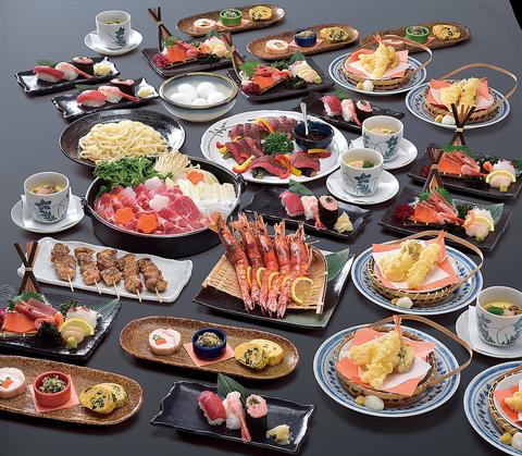 生ビール込120分飲放付!刺身盛合&天ぷら&選べる鍋 全9品コース4500円