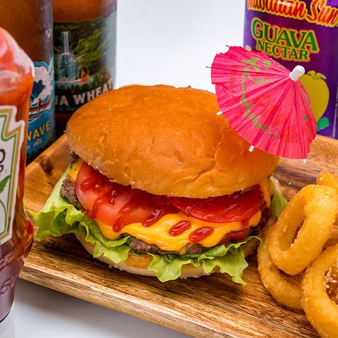 【テイクアウト】チーズバーガー+フレンチフライセット