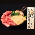 料理メニュー写真黒毛和牛とフォアグラのすき焼