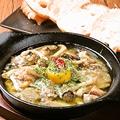 料理メニュー写真牡蠣と木の子のレモンアヒージョ