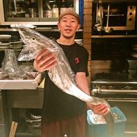 北海道・瀬戸内海を中心に仕入れた産地直送の地魚。