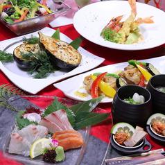 大分名物『かぼす冷麺』付!本日の厳選鮮魚お造り盛合せ【プチ贅沢和食コース】120分飲放4400円