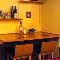ワインを片手に♪お二人様用に大人気のシートもご用意♪