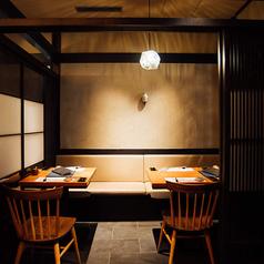 6名様までご利用いただけるテーブル席個室。当店自慢の紀州の山海料理を心ゆくまでご堪能ください。