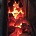 海鮮や焼き鳥など備長炭で焼き上げる炭火焼きもオススメ!