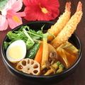 料理メニュー写真10種の野菜&ぷりぷりエビフライ