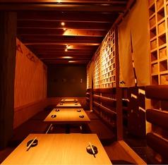 最大22名様の半個室あり。全席掘り掘りごたつのお席です。一体感のある空間でお楽しみください。