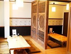 8~16名様までご利用いただける半個室にもなっているお座敷。各種宴会におすすめです。