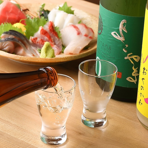 利酒師が選ぶ日本酒が楽しめる