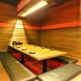 8名様~最大10名様用の掘りごたつのお席になります。プライベートの集い・飲み会に最適です。すだれで仕切りを作って、周りの目を気にせずワイワイ大盛り上がりのご宴会を!約40種の寿司と充実のサイドメニューがうれしい【寿司食べ放題】で、お腹いっぱい絶品寿司をお召し上がりください!