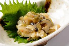 料理メニュー写真つぶ貝のわさび漬け