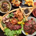 自家製のローストビーフ&ローストポークは大人気!和食×お肉で素材の旨味を最大限引き出します♪各種お肉料理以外にもこだわりの鮮魚や新鮮お野菜もご堪能いただけます◎