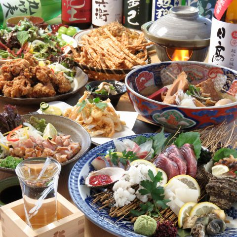 【2時間飲放題付】天然鮮魚のお造りを満喫!お造り付き宴会コース全11品5000円!
