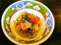 料理メニュー写真鯛とトマトとレタスのマリネ