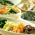 料理メニュー写真ナムル4種の盛り合わせ