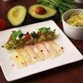 料理メニュー写真真鯛のカルパッチョ ~キヌアとアボカドの白バルサミコソース~
