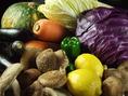 新鮮野菜を厳選して仕入れております。
