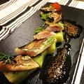 料理メニュー写真秋刀魚のスモークと焼なす カンパリのゼリー