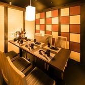 全席個室は2名様~ご案内!扉付き完全個室も完備しております。