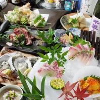 地物旬物満載!!自慢の宴会コース一押しは5000円(税抜)!
