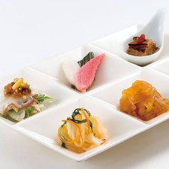 KAMONKA冷菜六種盛り合わせ
