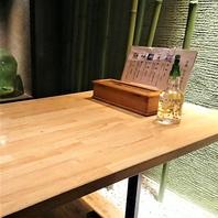 【コロナ対策】個室席にはお箸ボックスとアルコール完備