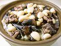 料理メニュー写真にんにくと台湾地鶏鍋