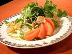 揚げ湯葉と水菜サラダ