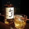 ウィスキー シングルモルト 焼酎などこだわりのボトルを御用意致しております。写真の知多は日本らしさが冴える和紙ラベルにほのかな甘さとなめらかな味わいが特徴のウイスキーです。